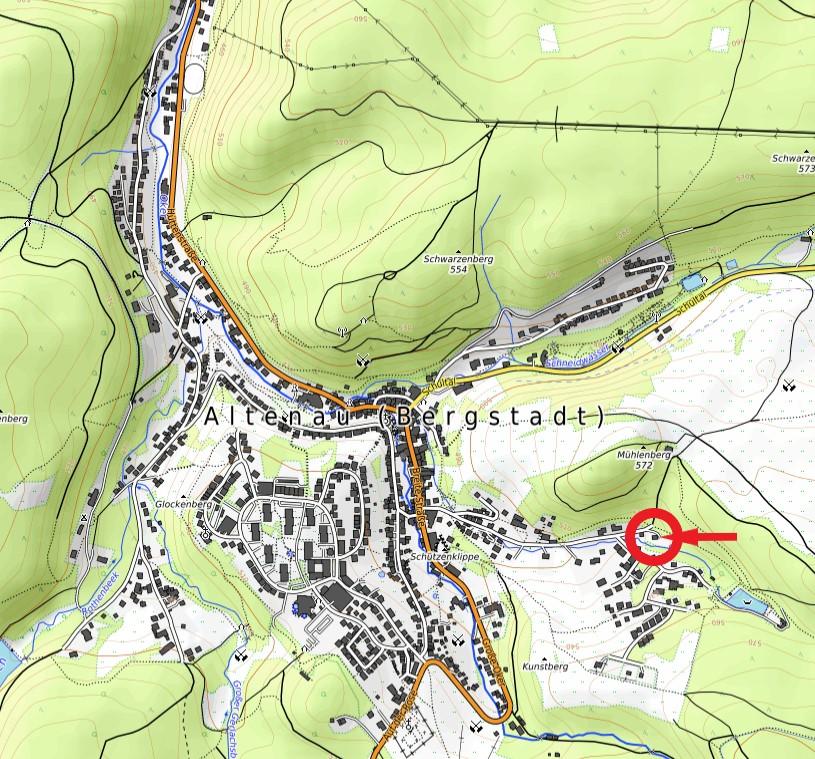 Ferienhaus Herzhausen Karte
