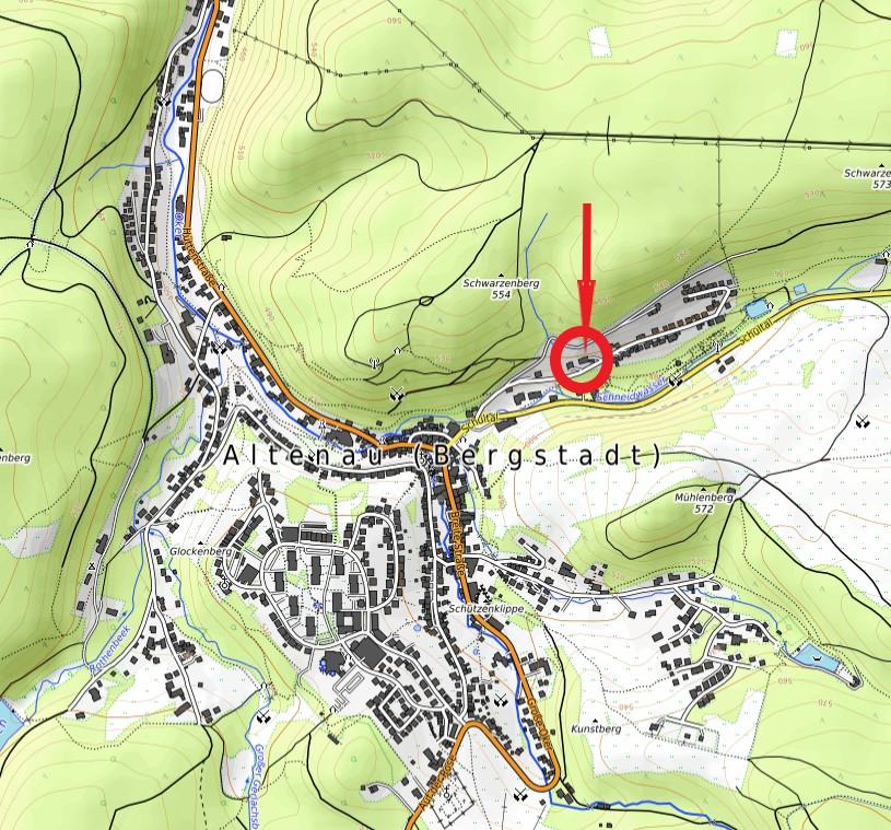 Ferienwohnung Altes Forstamt Karte