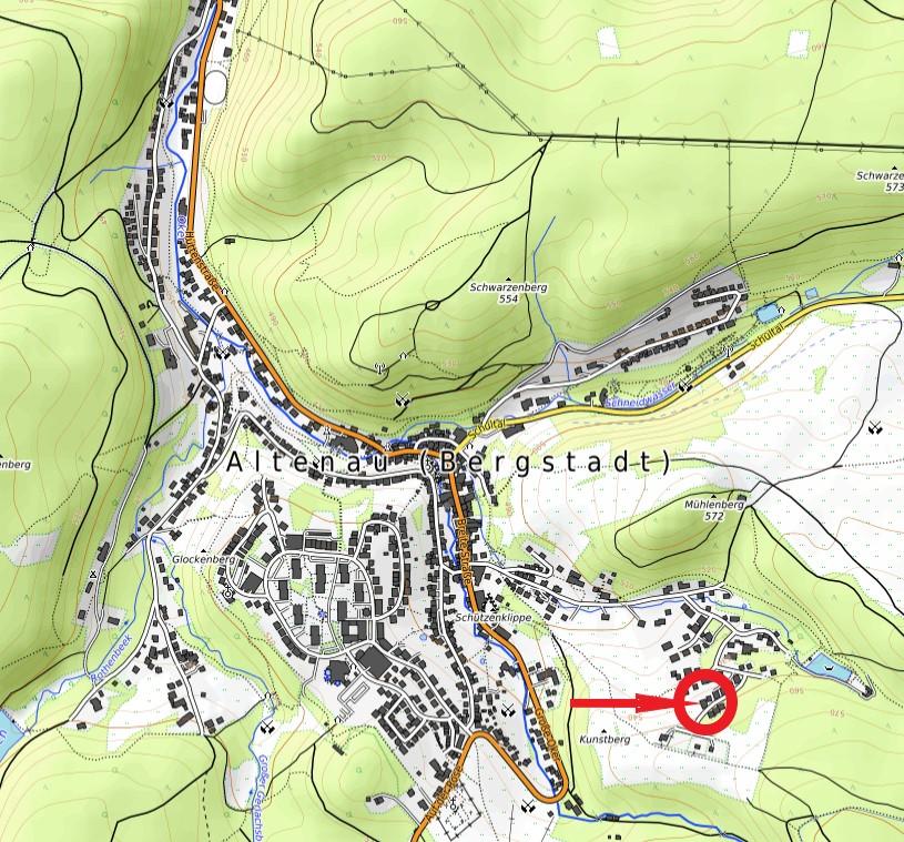 Haus Bergwiese Ferienwohnung Karte