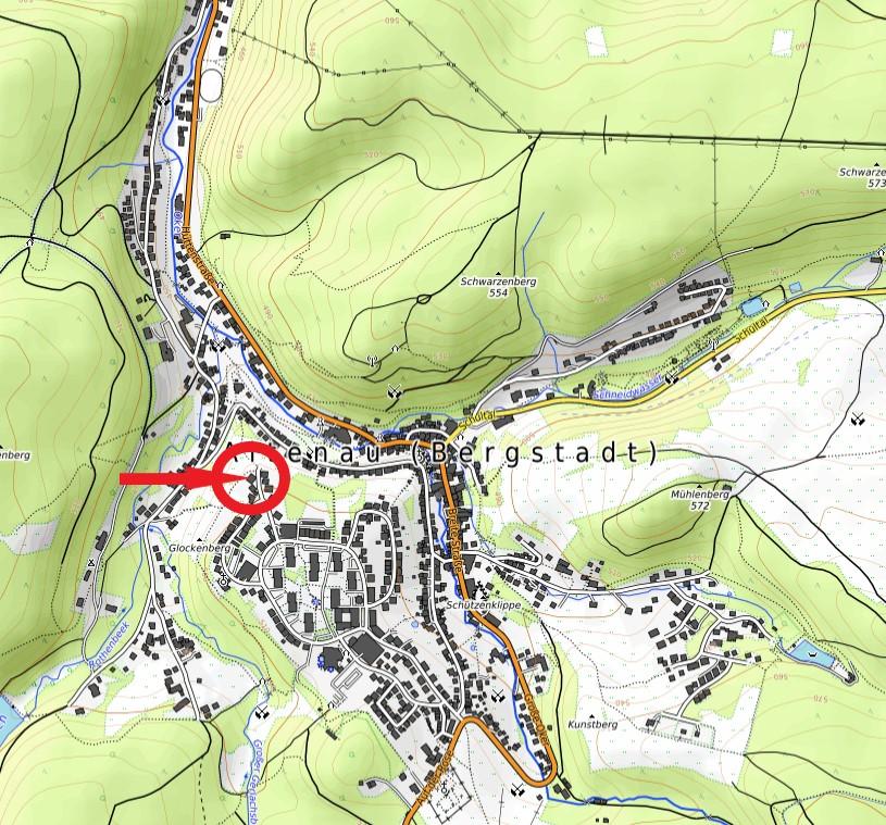 Haus Dreitälerblick Karte