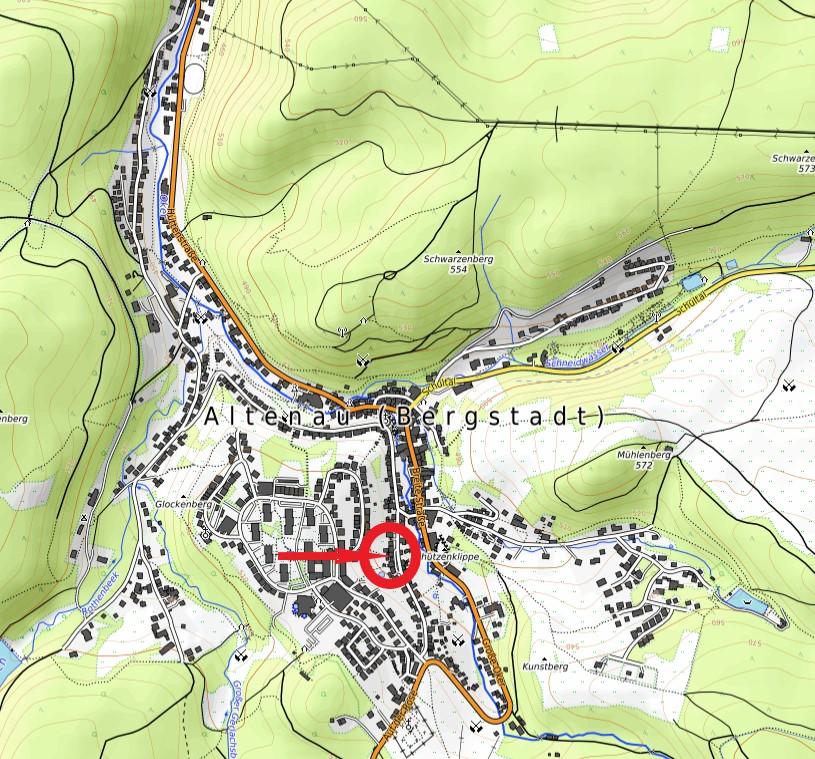 Haus Hirschhhausen Privatpension Karte