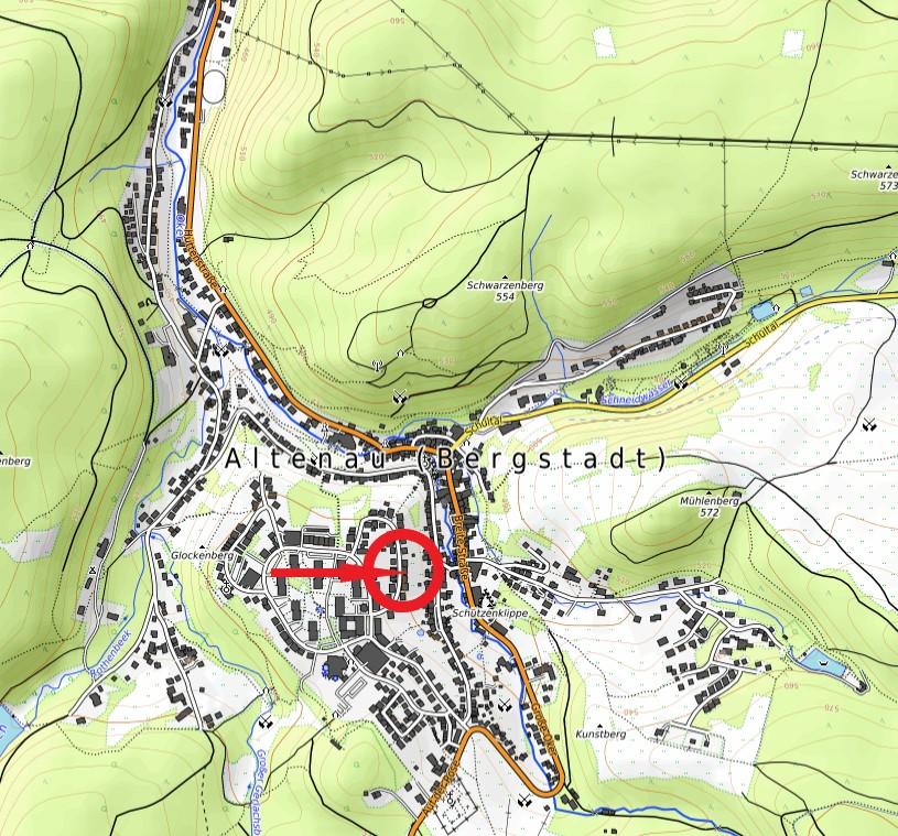 Haus Waidmannsruh Karte