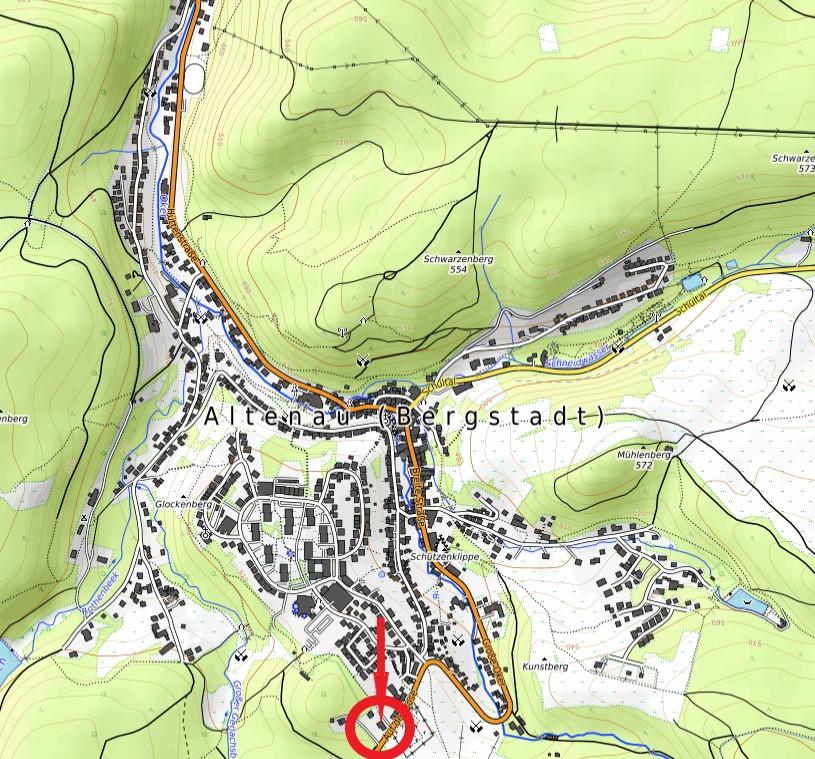 Hotel zum Forsthaus Karte