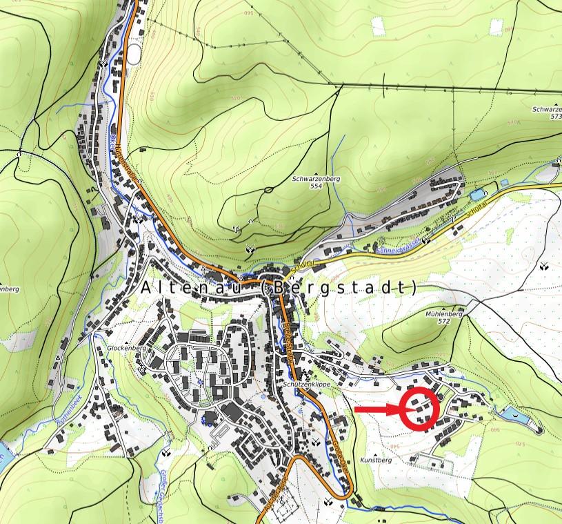 Landhaus am Kunstberg Karte