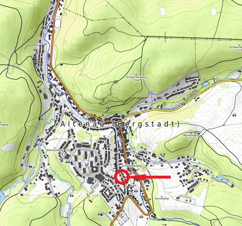 Standort Bergbrunnen Oberstraße