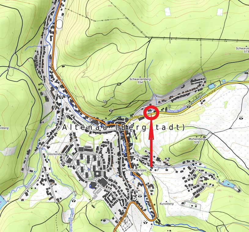 Standort Kurmittelbrunnen Schultal