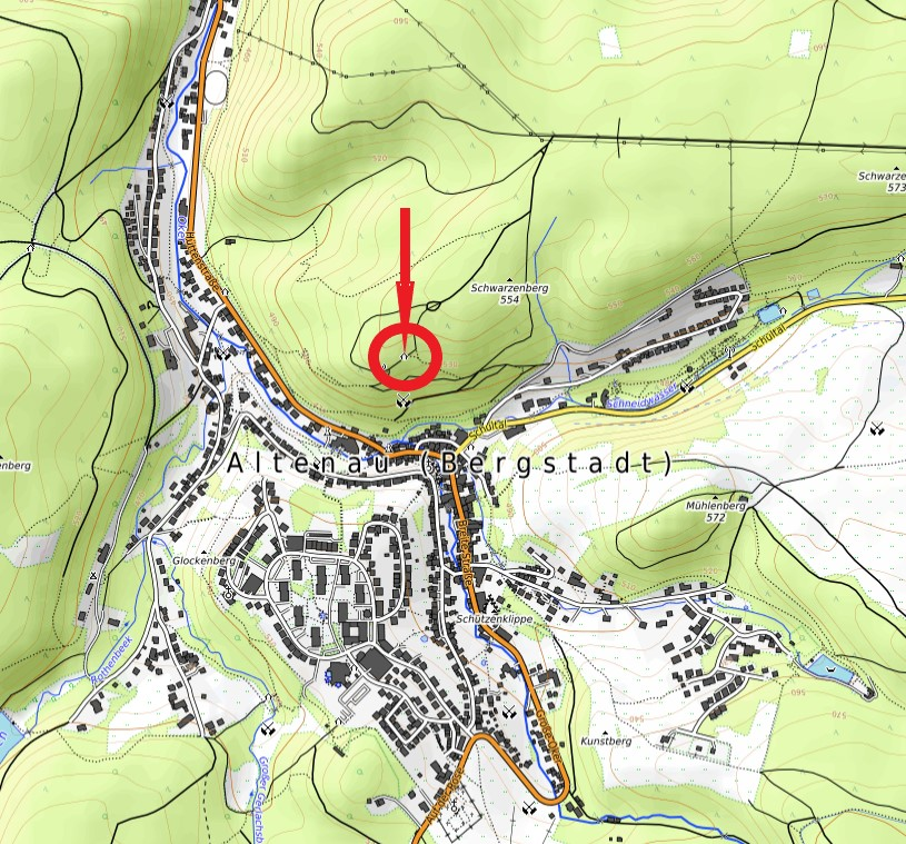 Standort Schutzhütte Aussichtspunkt Schwarzenberg