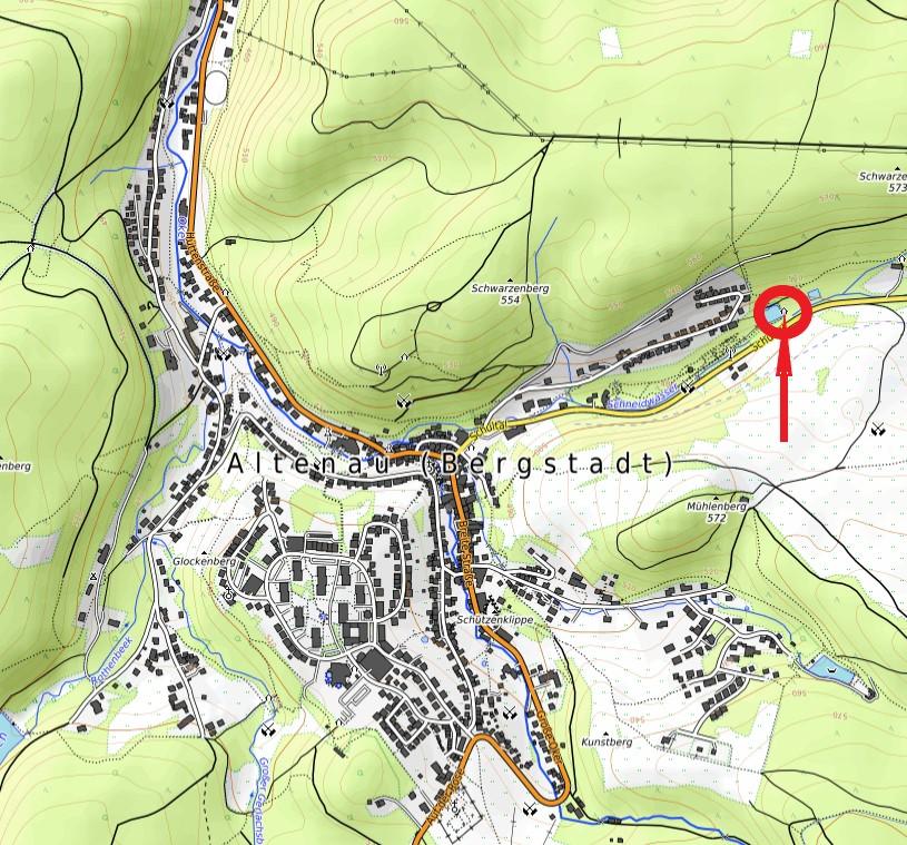 Standort Schutzhütte Seerosenteich Schultal