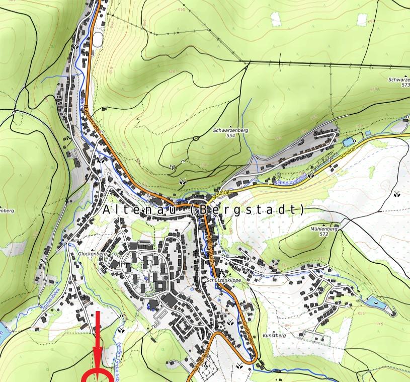 Standort Schutzhütte Teuer Friedrich Wanderweg