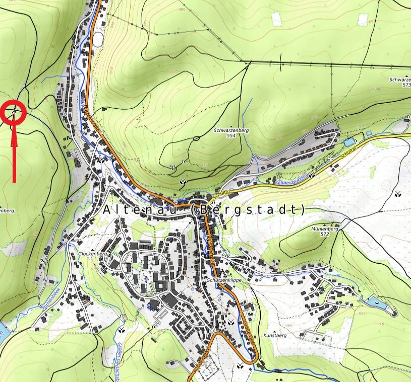 Standort Schutzhütte Wilhelm-Clauß-Hütte Rothenberg