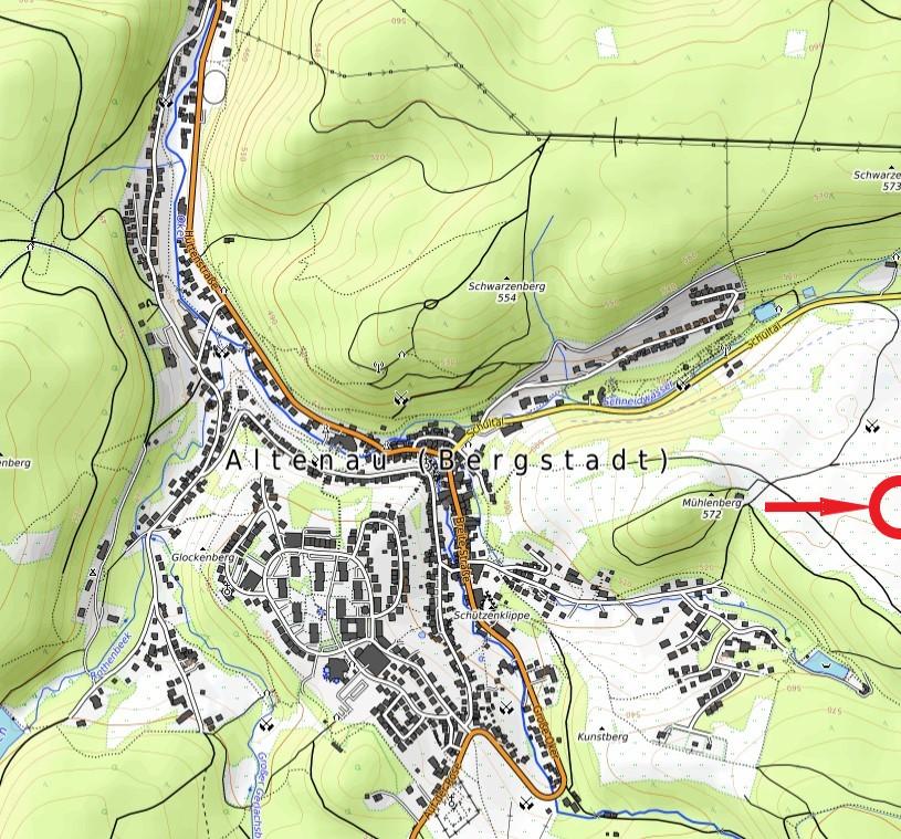 Standort Schutzhütte Mühlenberg